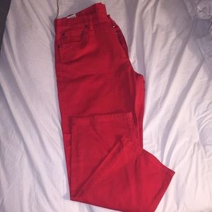 Red LEVI 501®️ Size 38/32 Straight Jeans